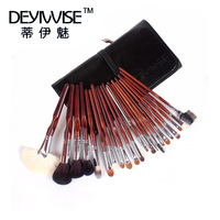 Deyiwise 22 professional sable brush set make-up beauty cosmetic toiletry kit bag