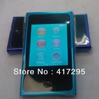 "Wholesale 10pcs/lot  4GB 7th Gen Mp3 & Mp4 Player with 2.0"" LCD & Touch Screen & E-Book & FM & Game & Retail Package"