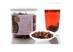 Free shipping fruit tea ,fruit grain of tea,Raise colour tea honey peach flavor 180g(China (Mainland))