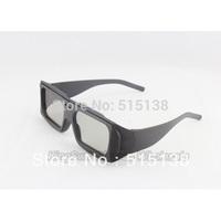 0.38mm Circular Polarized 3D Glasses Passive 3D Eyeglasses Eyewear For LG 3D TV RealD 3D 4D 5D Cinema with ABS Frame  Wholesale