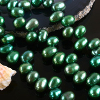 Quality diy natural green 6-7mm beads freshwater pearl necklace bracelet