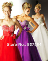 empire waistline long red sequin dress bow front a line floor length purple prom dresses white pageant gown