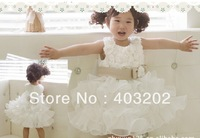 ball grown wholesale covered with flower pattern cascading Princess ocean skirt - girls skirt dress skirt