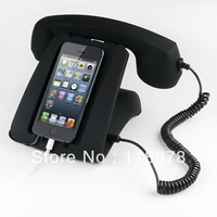 Anti-Radiation Volume Control Retro Handset Headset With Stand For iPhone5 Sumsung Galaxy S3
