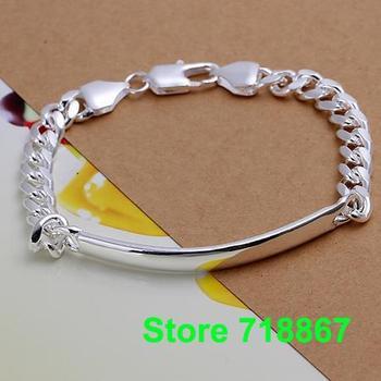 H171 925 Silver bracelet Fashion Jewelry bracelets 7M leather - shrimp buckle /java rsea