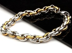 JCB119 Fashion Men's Titanium Bracelet Stainless Steel Bracelet Gold / Black Supper Cool(China (Mainland))