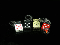 free shipping Dice lighter personality keychain ultra-thin open flame grinding wheel lighter