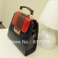 Fashion color block vintage bag 2013 small bags one shoulder cross-body women's handbag