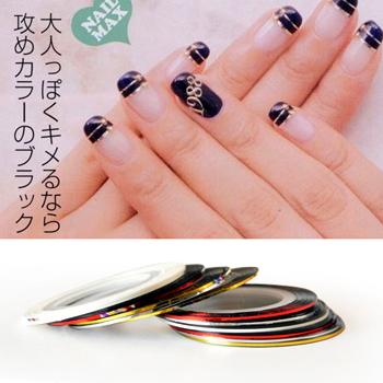 Fashion popular diy nail art metallic yarn tape adhesive backguy gold thread ,Free Shipping  M371