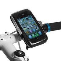 2013 Handlebar Bicycle Bike Mobile Cell Phone Touchable Bag for iPhone 4S 5 HTC Free Shipping