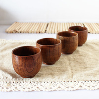 Free Shipping new 2014 hot sale small size wooden tea cup B009