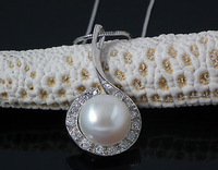 Elegant Pearl Pendant 100% Guaranteed Pure 925 Sterling Silver With CZ Stone 40880