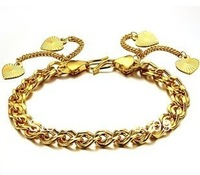 2013 NEW hot selling bracelet women wholesale jewelry 18K glod bracelet heart charming bracelet(min order $15)