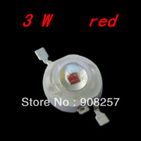 free shipping 50pcs 3W red Bead Lamp LED Without board Star HIGH POWER  140 degree light DIY