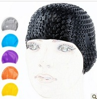 Free shipping New arrival casual long hair plus size fashion waterproof silica gel swimming cap, silicone swimming caps