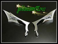 Freeshipping SPEAR CUSTOM CHROME MINI MIRRORS for Honda Rebel Shadow 600 750 VTX 1300 1800