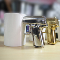 Novelty pistol cup mug flapless cqua home