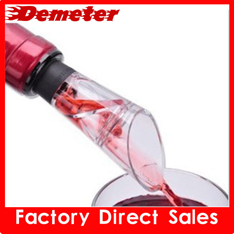 10pcs/lot Free Shipping White & RED WINE Pourer Improve Fresh Wine Stopper Acrylic Material Bottle Pourer Dumping(China (Mainland))