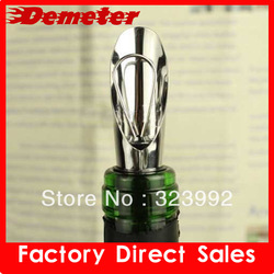 10pcs/lot Free Shipping wholesale White & RED WINE AERATOR Decanter Pourer IMPROVE FLAVOR Wine Stopper Bottle Pourer Dumping(China (Mainland))
