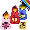 2013 RETAIL PRODUCT!! Free shipping!! 5colors baby clothes winter/autumn coat cartoon jacket thick kids jacket J1-071