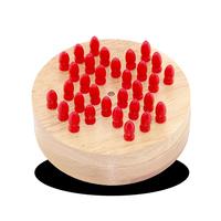 Wood brain Teaser puzzle Solitaire Hi-Q peg jump Medium Single Nobility Chess Large Puzzle Toy