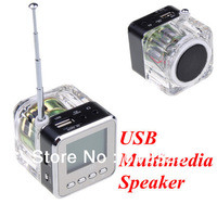 10pcs/lot Portable USB mini speaker NiZHi TT028 with FM radio LED Screen Free shipping