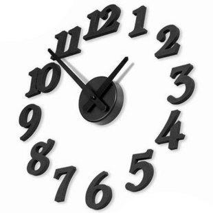 Brief fashion diy digital wall clock silent watch personalized stereo clock