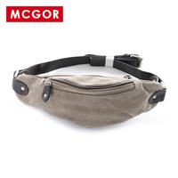 Mcgor  summer canvas waist pack chest pack small bag messenger bag male bags/163