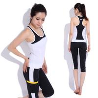 black Yoga clothes set fitness clothing aerobics clothing female brand sport suit women kc Free shipping