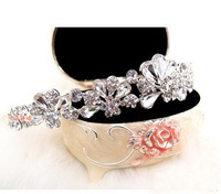 Crystal Hair accessory hair bands rhinestone wedding flower hair accessory Bridal accessories Q0063 free shipping