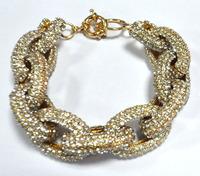Free shipping Pave Link Bracelet, chain link bracelet