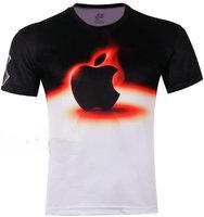 Free Shipping Cool Men's apple 3D animal Creative T-Shirt#114 ,Punk Three D Short Sleeve Tee Shirt S-6XL,Plus Size