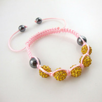 Free Shipping  wholesale Shambala Charm Disco Ball Bead Bracelet New T-Paris Shambhala Rhinestone Crystal Fashion Jewelry