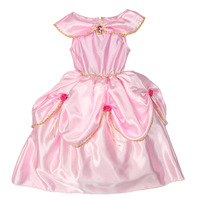 12016 girl performance wear female child one-piece dress girls clothing pink princess dress