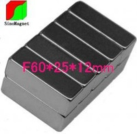N35 Ni 60*25*12mm 1pcs /pack block permanent magnet