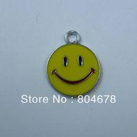 100pcs/lot alloy smiling face enamel pendants charms FREE SHIPPING wholesale  h017
