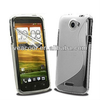 2XS Line Soft TPU Gel Silicon Case for HTC One S Z520e+Screen film