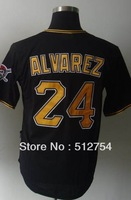Free Shipping #24 Pedro Alvarez Men's Baseball Jersey,Embroidery and Sewing Logos,size M--3XL,Accpet Mix Order