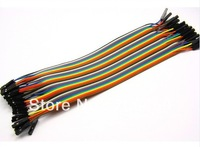 Wholesale 5x40pcs=200pcs 20cm FEMALE TO FEMALE Solderless Jumper Breadboard Wires
