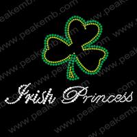30pcs/Lot Free Shipping Irish Princess Wholesale Hear Iron On Transfer For St. Patrick's Day Free Custom Design