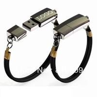 Free Shipping Logo Printing Metal USB Bracelet 1GB-32GB