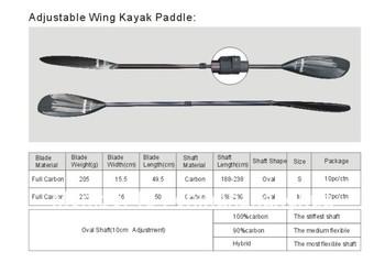 Adjustable Wing Kayak Paddle
