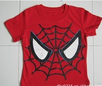 2012 new foreign trade the single male children's wear short-sleeved spider-man printing children's T-shirt