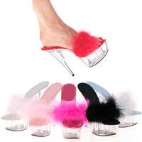 Sexy ultra high heels transparent crystal shoes t ruslana korshunova star style 3 plus size high heels sexy high-heeled shoes