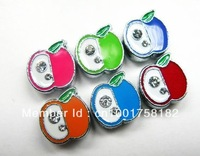1pc  8mm Apple Slide Charms DIY Accessories Fit Pet Collar Wristband