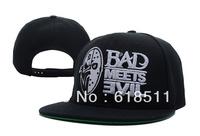 Free shipping-Cold humor!! Bad Meets Evil Snapback Hats,fashion adjusable caps,20pcs/Lot