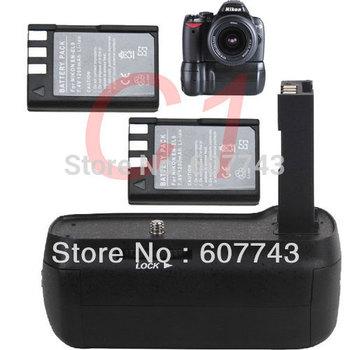 free shipping by DHL fast delivery hand grip Vertical Battery Grip For Nikon D5000 D3000 D60 D40 D40x DSLR camera + 2 EN-EL9