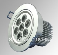 2012 hot sale 7w led dimmable indoor light high power LED recessed ceiling light 2 years warranty 12pcs/lot free shipping