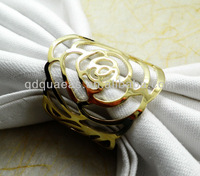 rose flower wedding  napkin ring and decoration napkin ring by free shipping