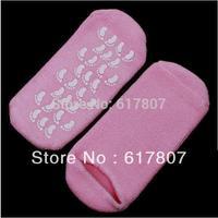 Pink Gel Socks Moisturize Soften Repair Cracked Skin Moisturizing Treatment Gel Spa Socks